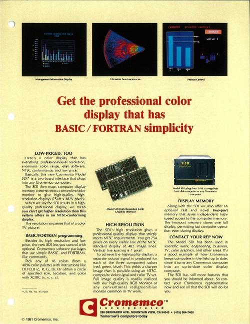 SDI High-Resolution Color Graphics Interface