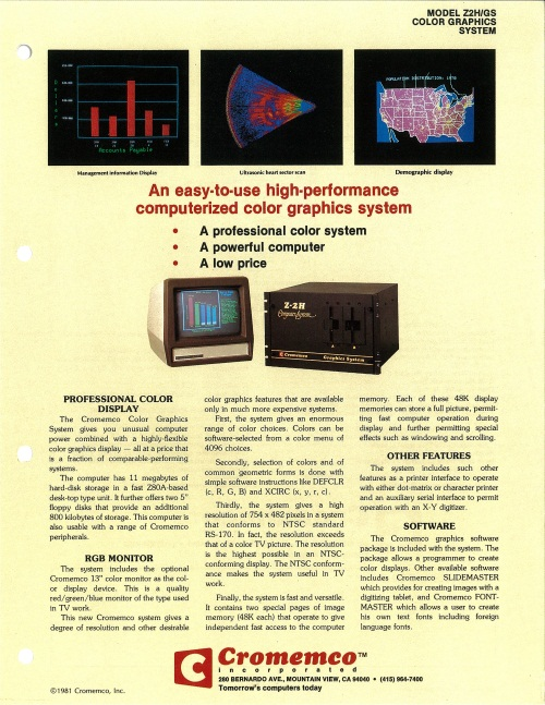Model Z2H/GS Color Graphics System