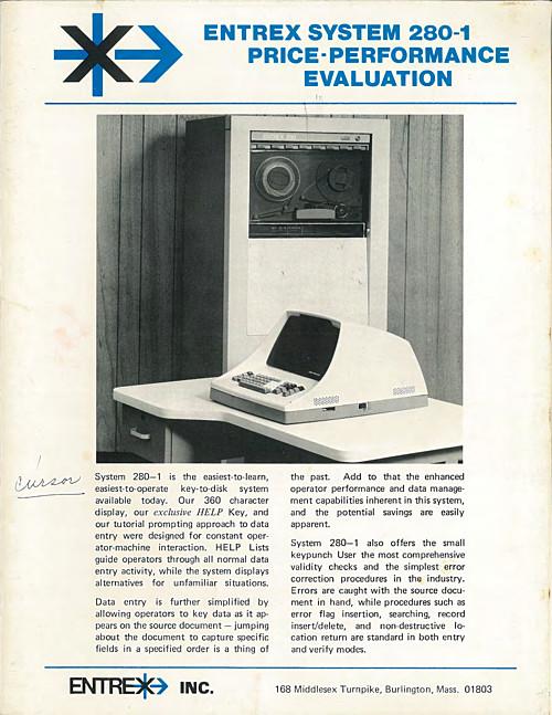 Entrex System 280-1 Price Performance Evaluation