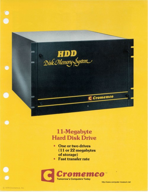 Cromemco HDD Disk Memory System